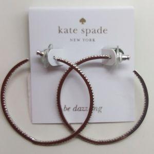 Kate Spade New Be Dazzling Silver Hoop Earrings